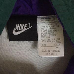 Nike Jackets & Coats - NIKE *VNTG windbreaker green/purple L